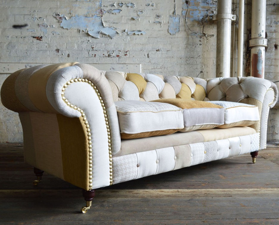 Merveilleux Chesterfield Sofa / Fabric / 2 Person / 3 Seater   CHESTER