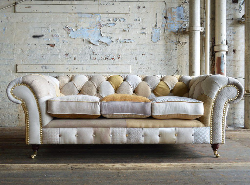 Chesterfield Sofa / Fabric / 2 Seater / 3 Seater ...