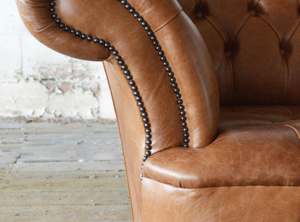 Chesterfield Sofa Leather 5 Person 6 Person Grande