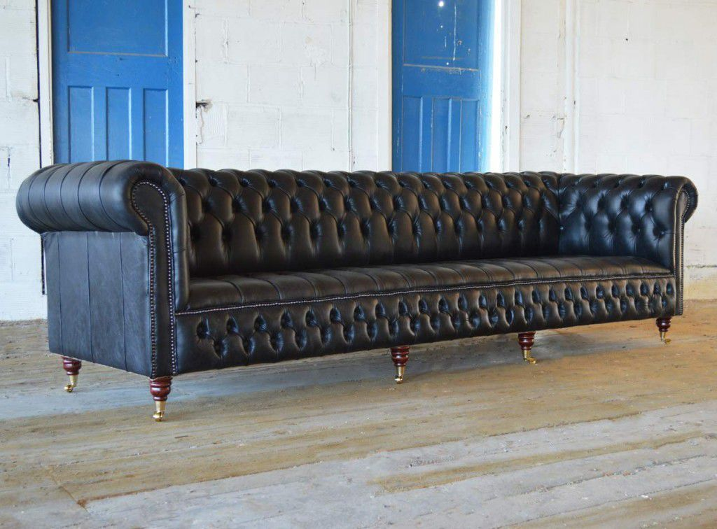 Chesterfield Sofa / Leather / 4 Seater / 5 Person   GRANDE MAYFAIR