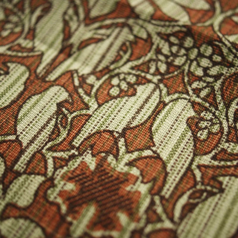 Upholstery Fabric Patterned Linen Birds Print Dill By Charles