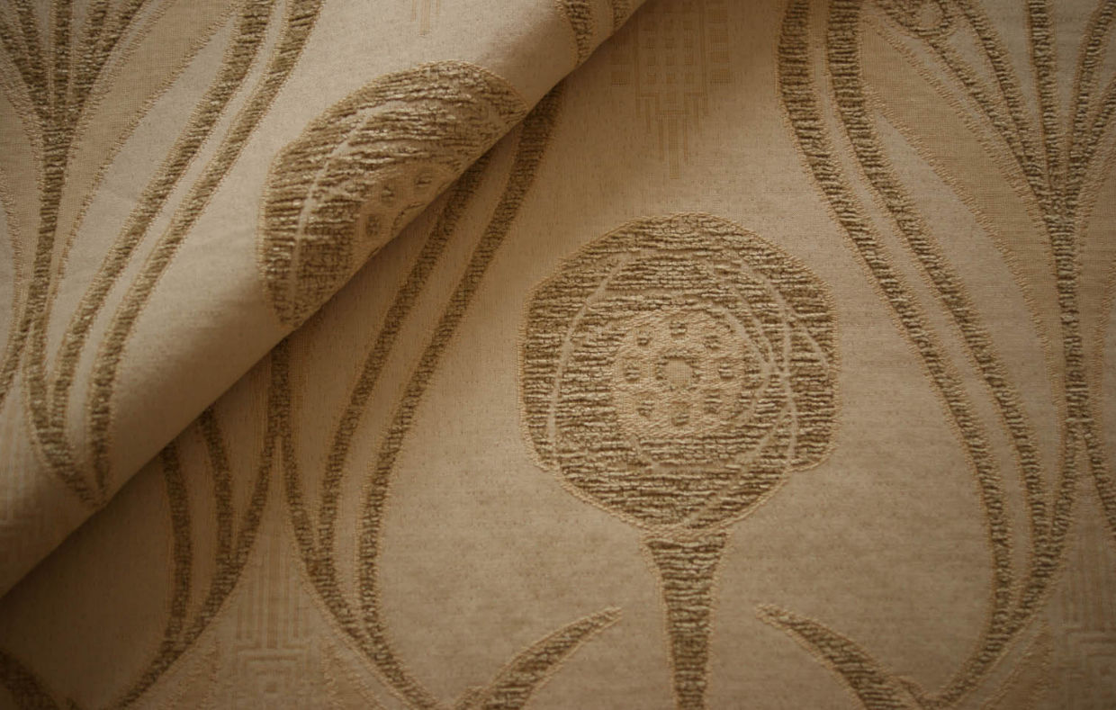 Upholstery Fabric Patterned Cotton Polyester Chenille Roses
