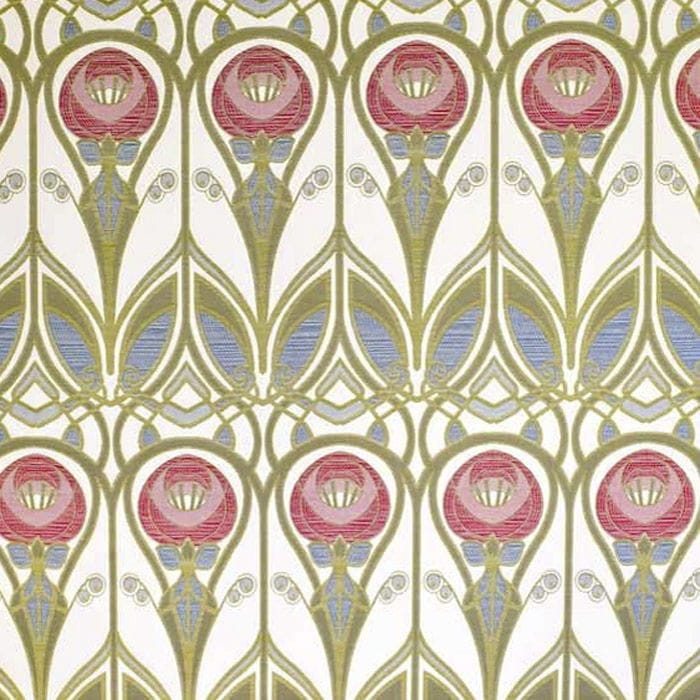 Upholstery Fabric For Curtains Patterned Cotton Roses Mustard By Charles Rennie Mackintosh Loome