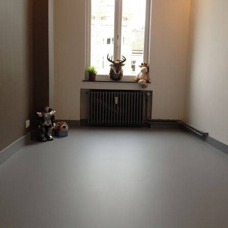 Polyurethane Flooring Residential Polished Concrete Look