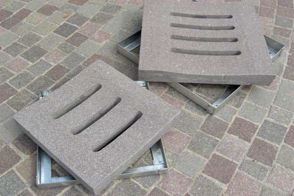 Stone Floor Drain / Patio / Square ...
