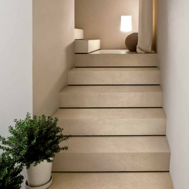 Pezzi Speciali In Ceramica.Porcelain Stoneware Step Covering Cava Alborensis Pezzi Speciali