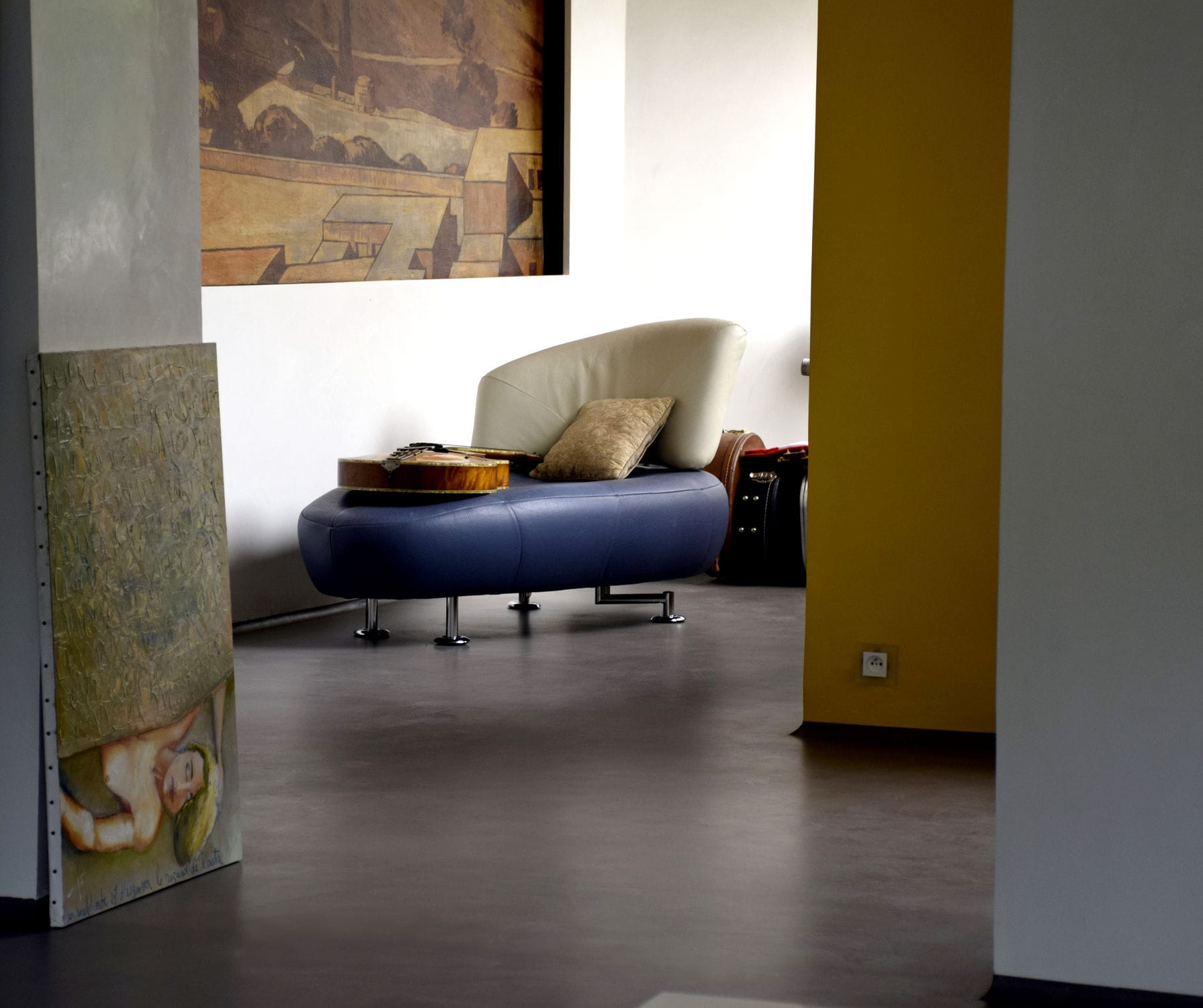 residential concrete floors. Concrete Flooring / Residential Waxed - MICROCEMENT Floors