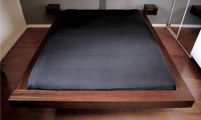Double Bed Contemporary Mahogany Sapele Futon Tebian