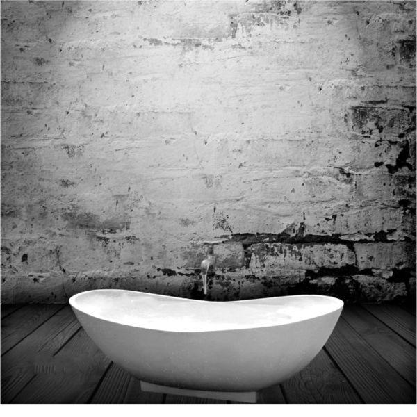 Free Standing Bathtub Oval Terrazzo