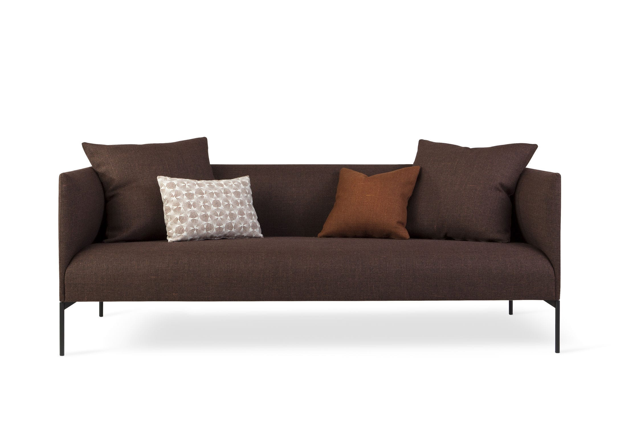 Contemporary Sofa Fabric 2 Person With Removable Cushion