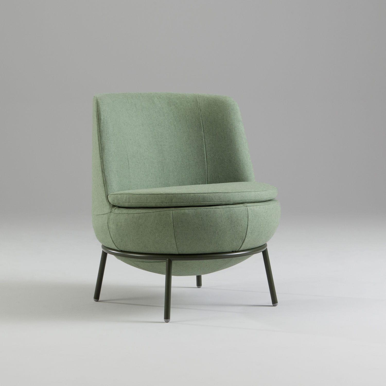 Contemporary Fireside Chair / Fabric / For Public Buildings   POD By Matz  Borgström