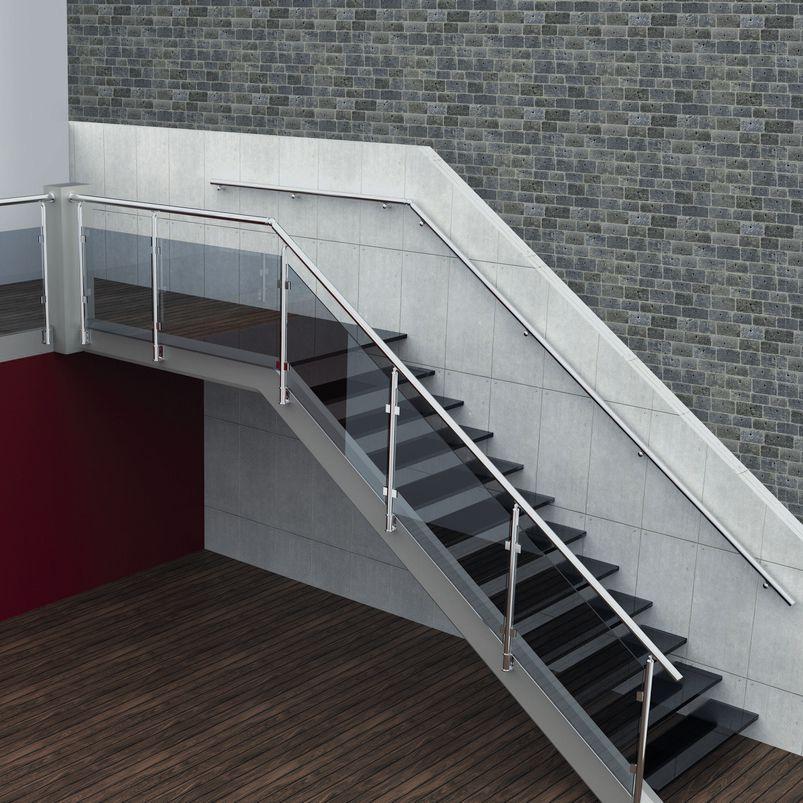 aluminum railing glass panel indoor for stairs - Aluminum Stairs