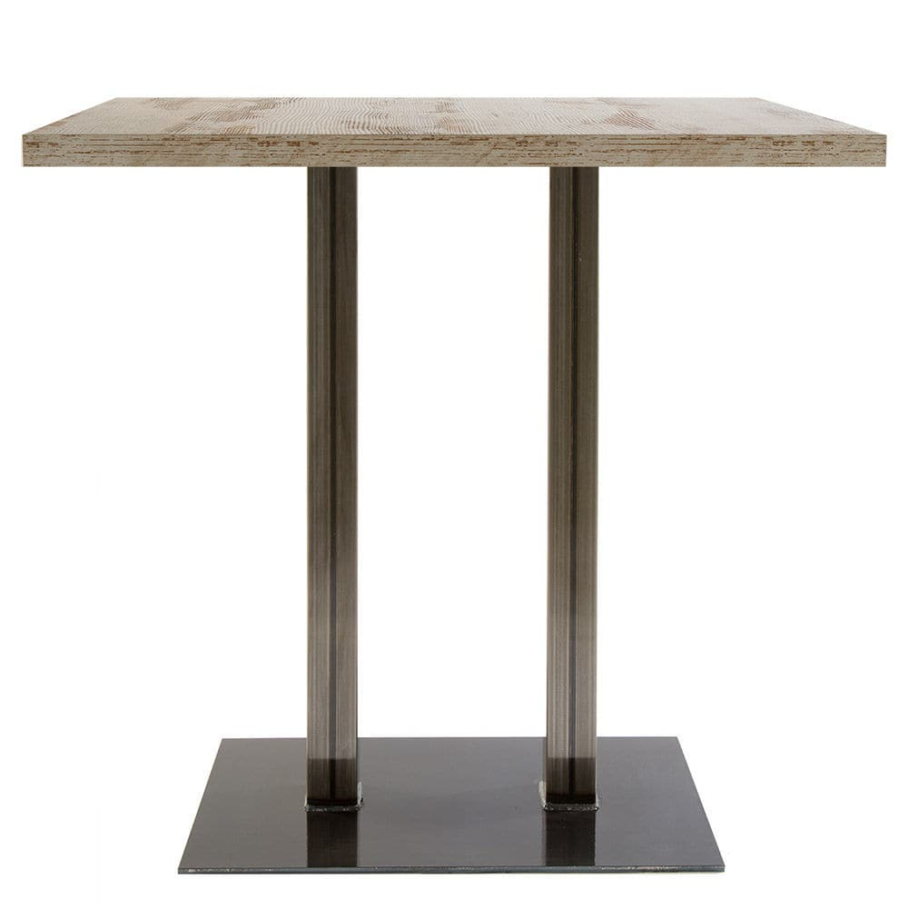 Contemporary High Bar Table Iron Rectangular Commercial Slim 84 2 Weld