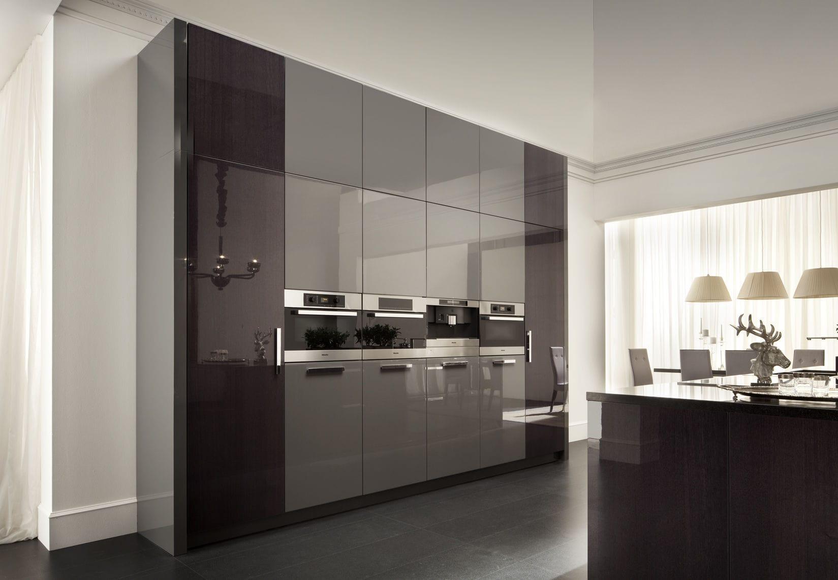 contemporary kitchen / wooden / island / high-gloss - montecarlo ... - Cucine Valdesign