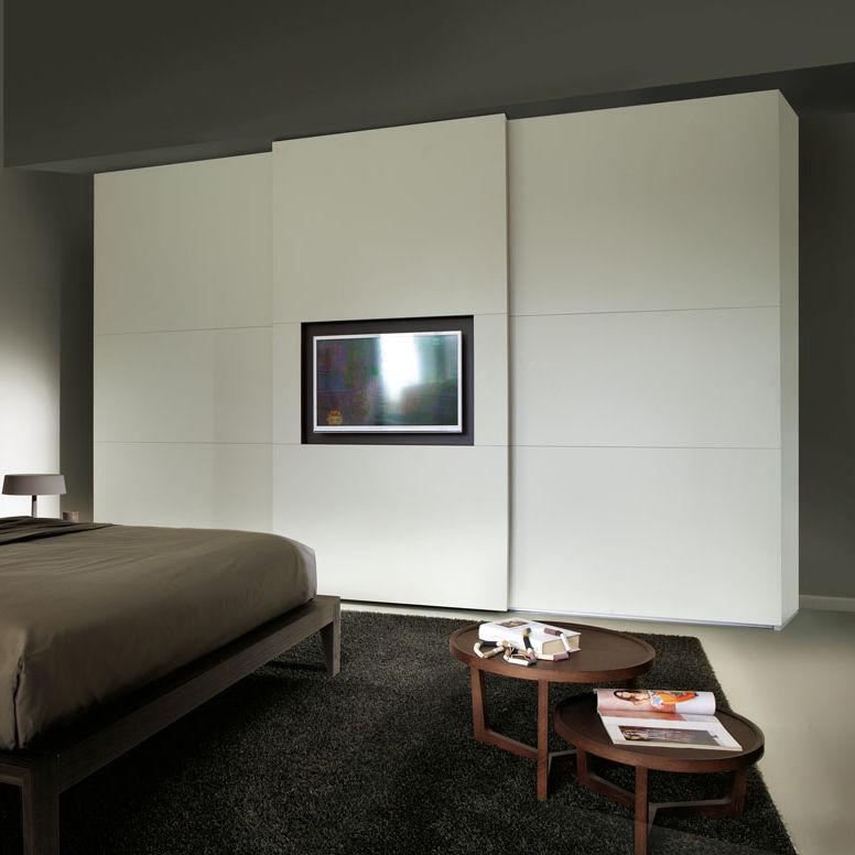 Contemporary Wardrobe / Wooden / Sliding Door / With TV Screen   SCREEN MY  TV