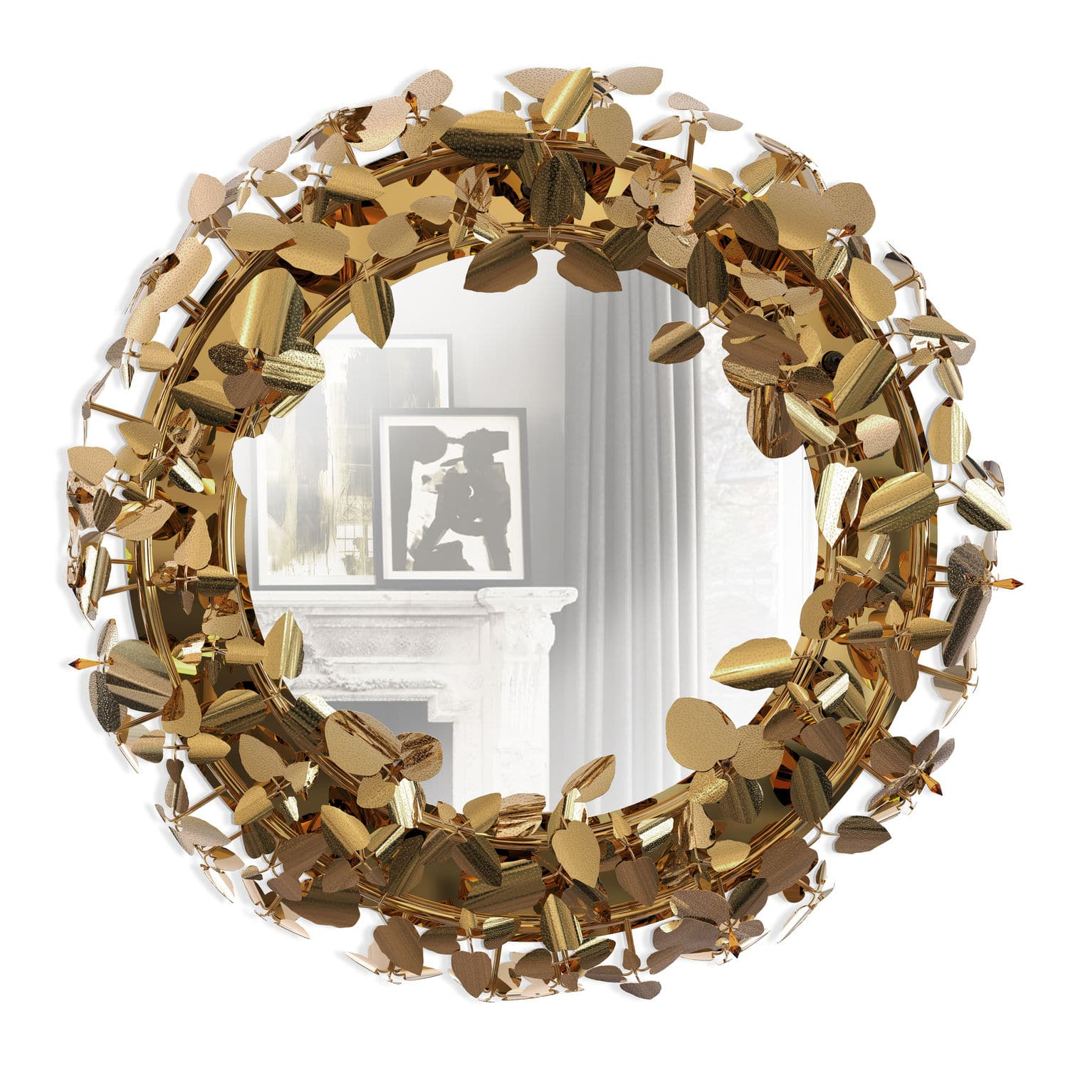 Wall-mounted mirror / living room / contemporary / round - MCQUEEN ...