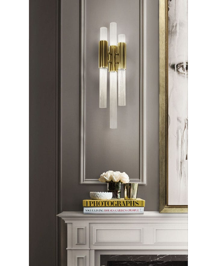... Contemporary Wall Light / Living Room / Brass / Gold Plated Brass ...