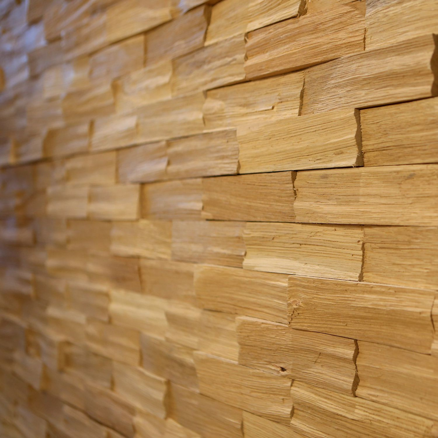 Wooden Wall Cladding / Interior / Textured / Decorative   OAK BRICK
