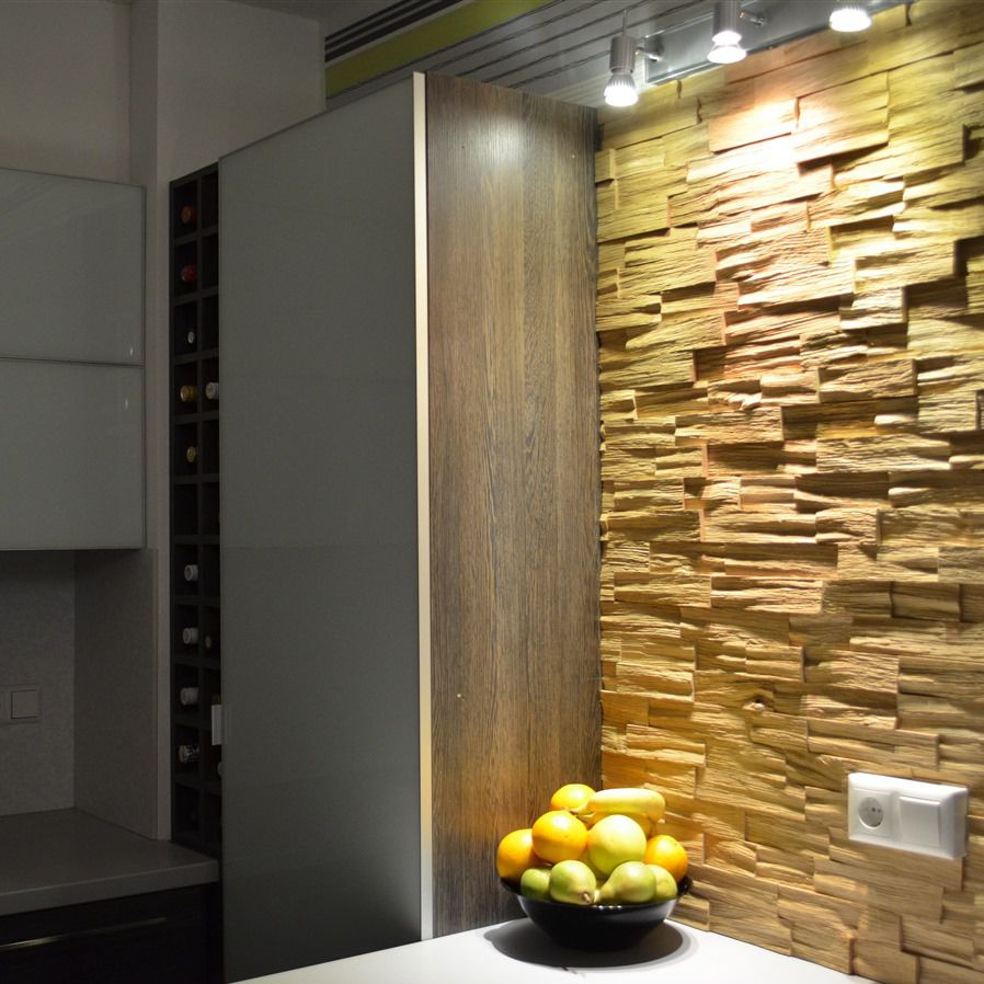 Decorative Wood Walls wooden wall cladding / interior / textured / decorative - oak