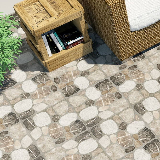 Outdoor tile / for floors / porcelain / geometric pattern - RIO ...