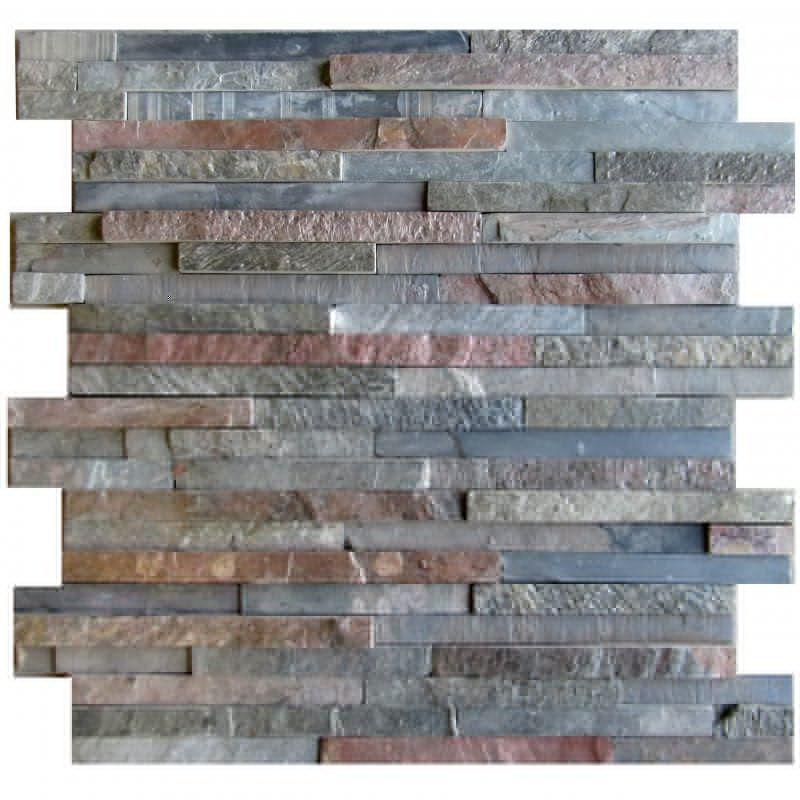 Indoor Mosaic Tile Wall Slate Geometric Pattern