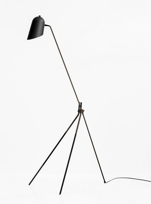 Floor Standing Lamp Contemporary Aluminum Steel