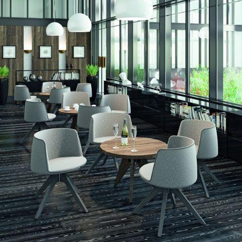 Contemporary Visitor Armchair / Fabric / Wooden / Aluminum   BALLOON 430 By  Orlandini U0026 Radice