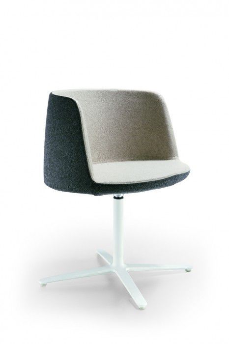 ... Contemporary Visitor Armchair / Fabric / Wooden / Aluminum ...