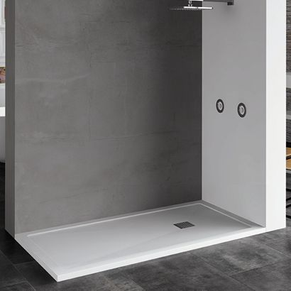 Rectangular Shower Base / Composite / Non Slip / Flush   ARES