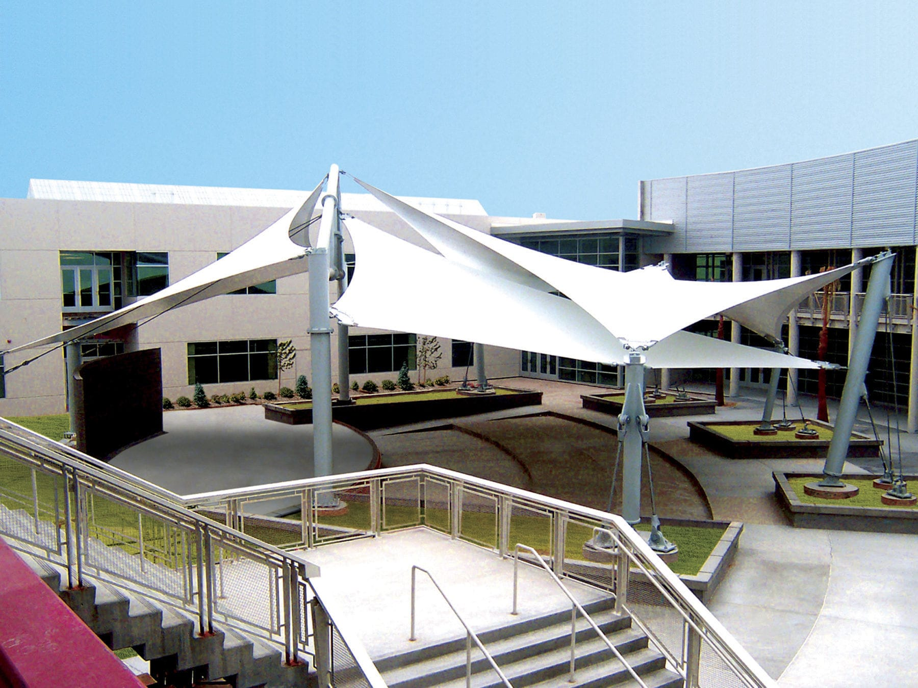 Genial ... PVC Coated Glass Fabric Architectural Membrane / PVC / For Public  Spaces / For Tensile ...