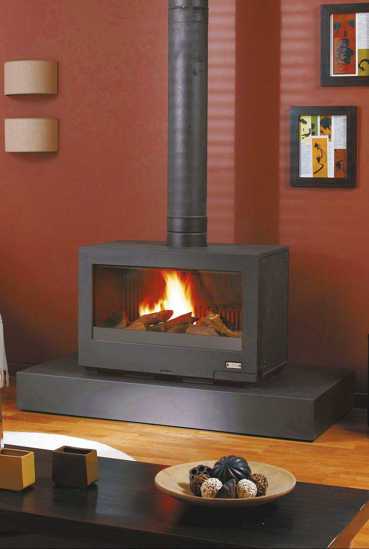 wood heating stove contemporary cast iron shasta godin export