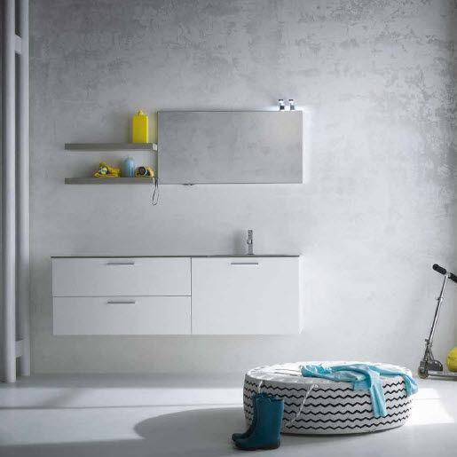Wall-hung washbasin cabinet / oak / contemporary / lacquered - AL07 ...