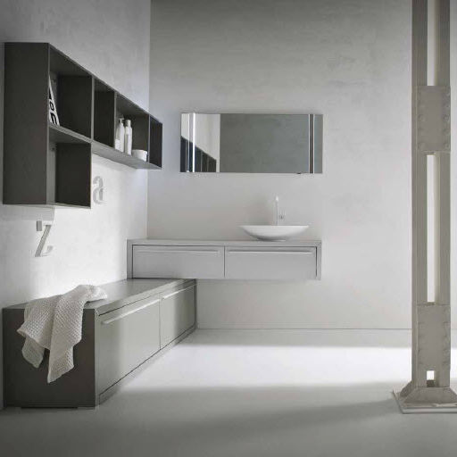 Wall-hung washbasin cabinet / oak / contemporary / lacquered - AF03 ...