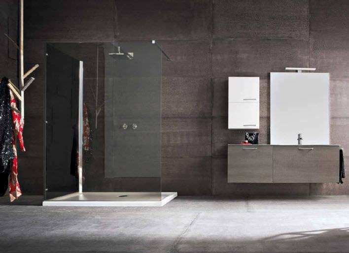 Contemporary bathroom / oak - QB04 - IDEAL BAGNI