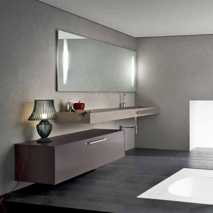 Bathroom base cabinet / wall-mounted - MG01 - IDEAL BAGNI