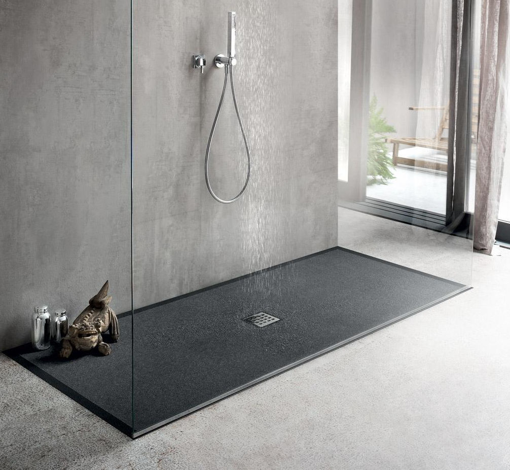 Rectangular shower base / marble - MARTINI PIETRA - IDEAL BAGNI