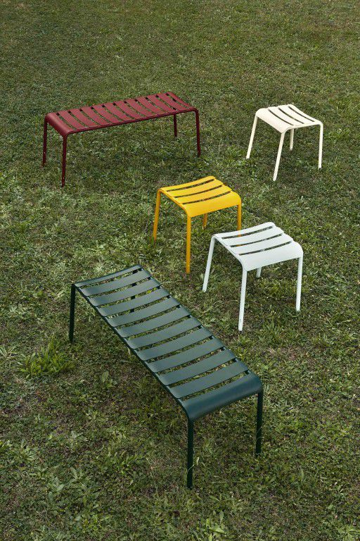 Contemporary Stool / Aluminum / Garden STECCA By Alban Le Henry Colos ...