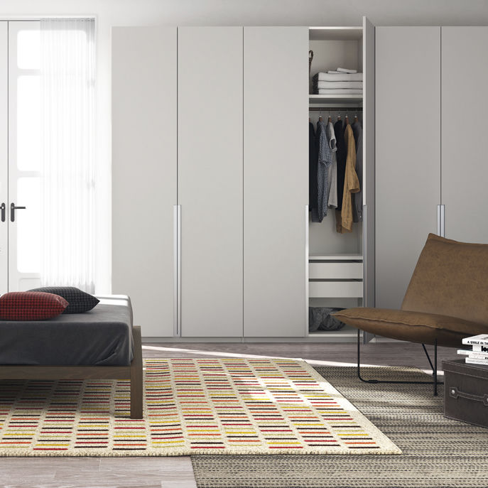 contemporary wardrobe / MDF / with swing doors / commercial - SPLIT & Contemporary wardrobe / MDF / with swing doors / commercial - SPLIT ...