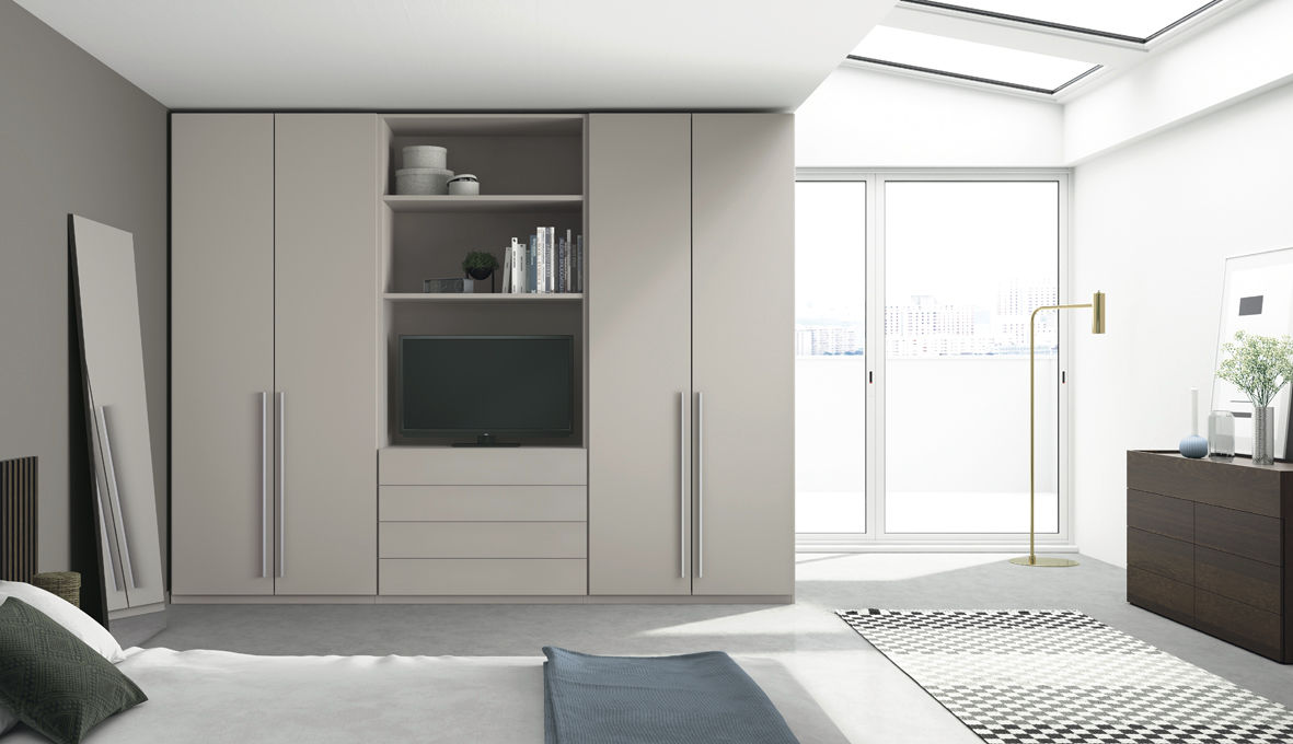 Wall Mounted Wardrobe Contemporary Mdf With Swing Doors Lisa