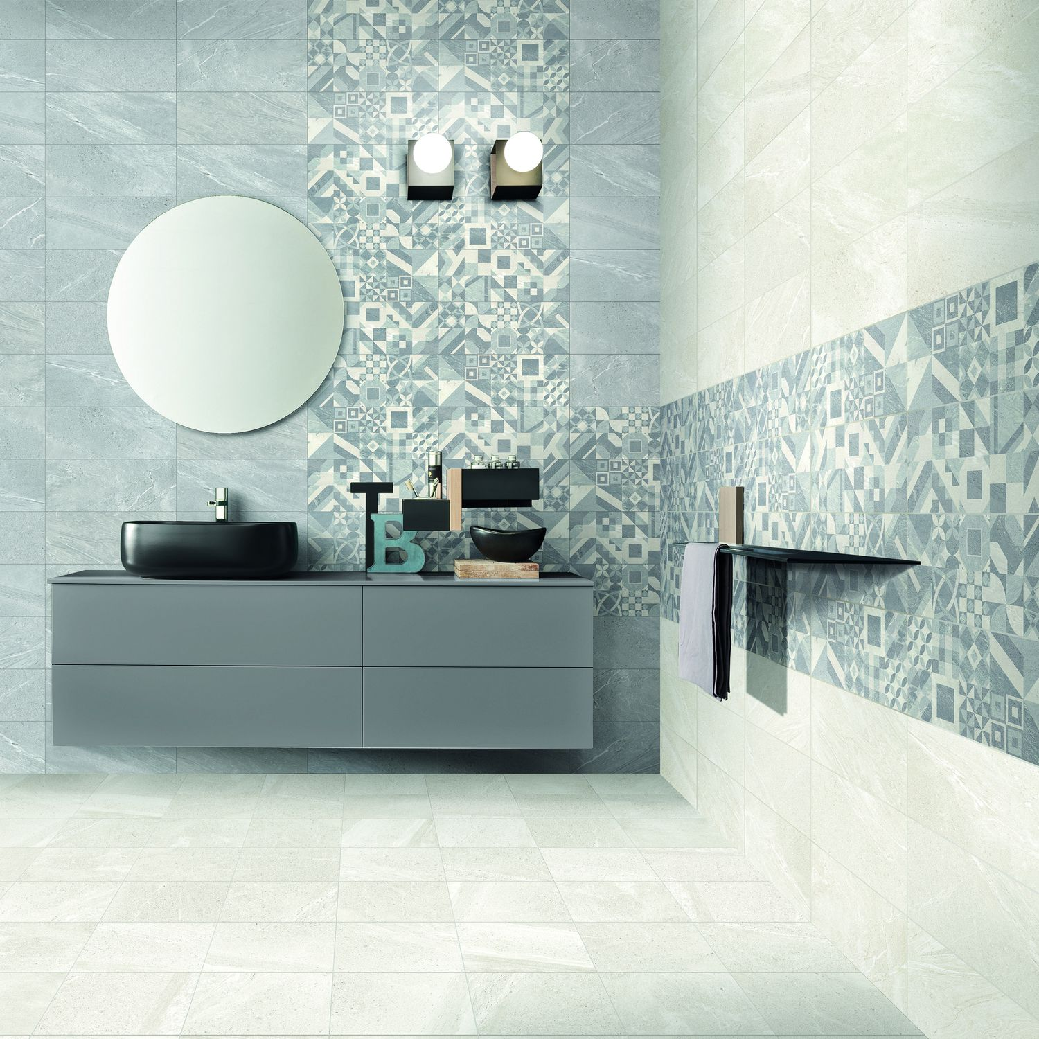 Bathroom tile / wall / porcelain stoneware / patterned - CARDOSO ...