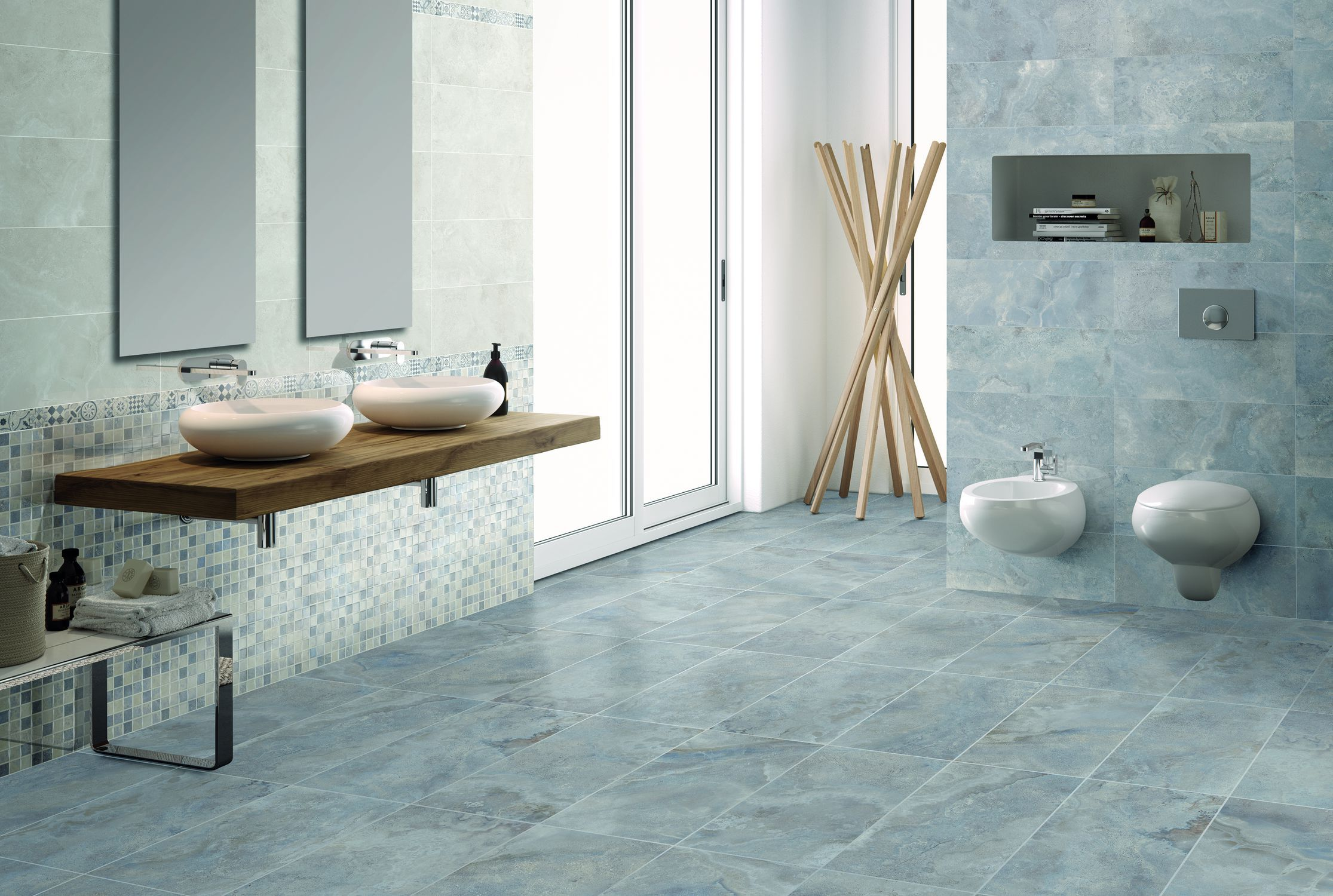 Bathroom tile / wall / floor / porcelain stoneware - RIALTO ...