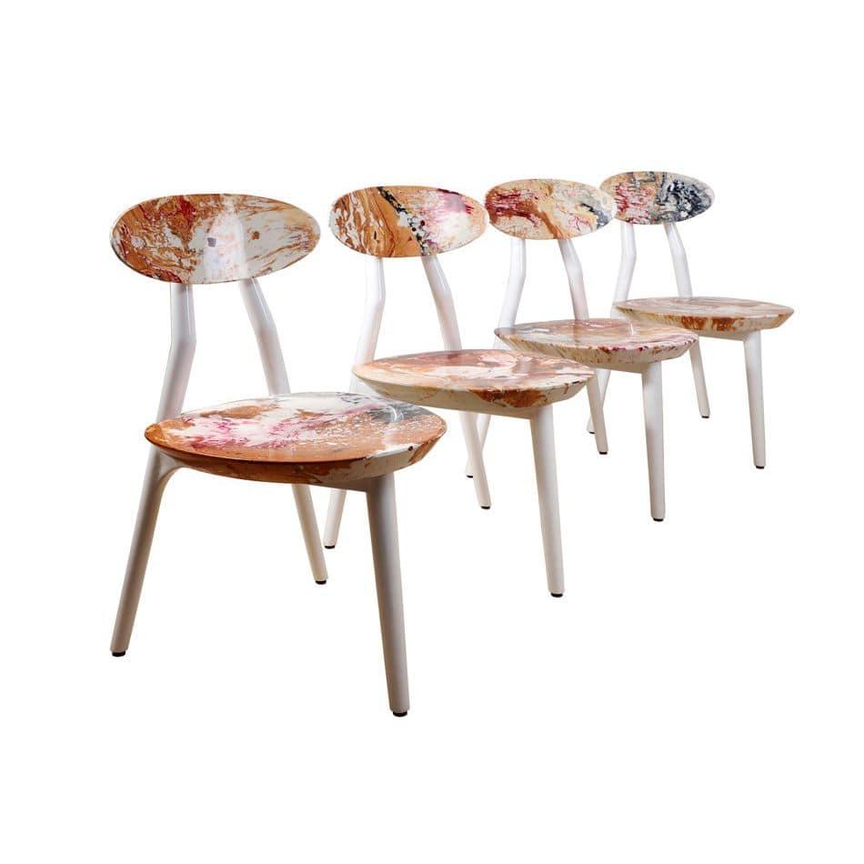 Traditional chair upholstered handmade fabric trinogu