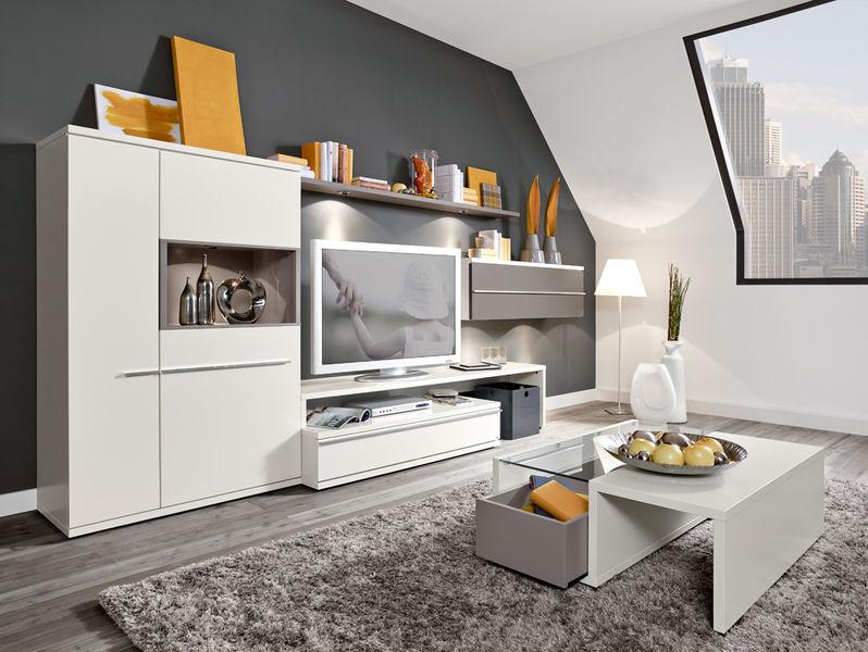 Contemporary TV Wall Unit / Lacquered Wood KITO Loddenkemper GmbH U0026 Co.
