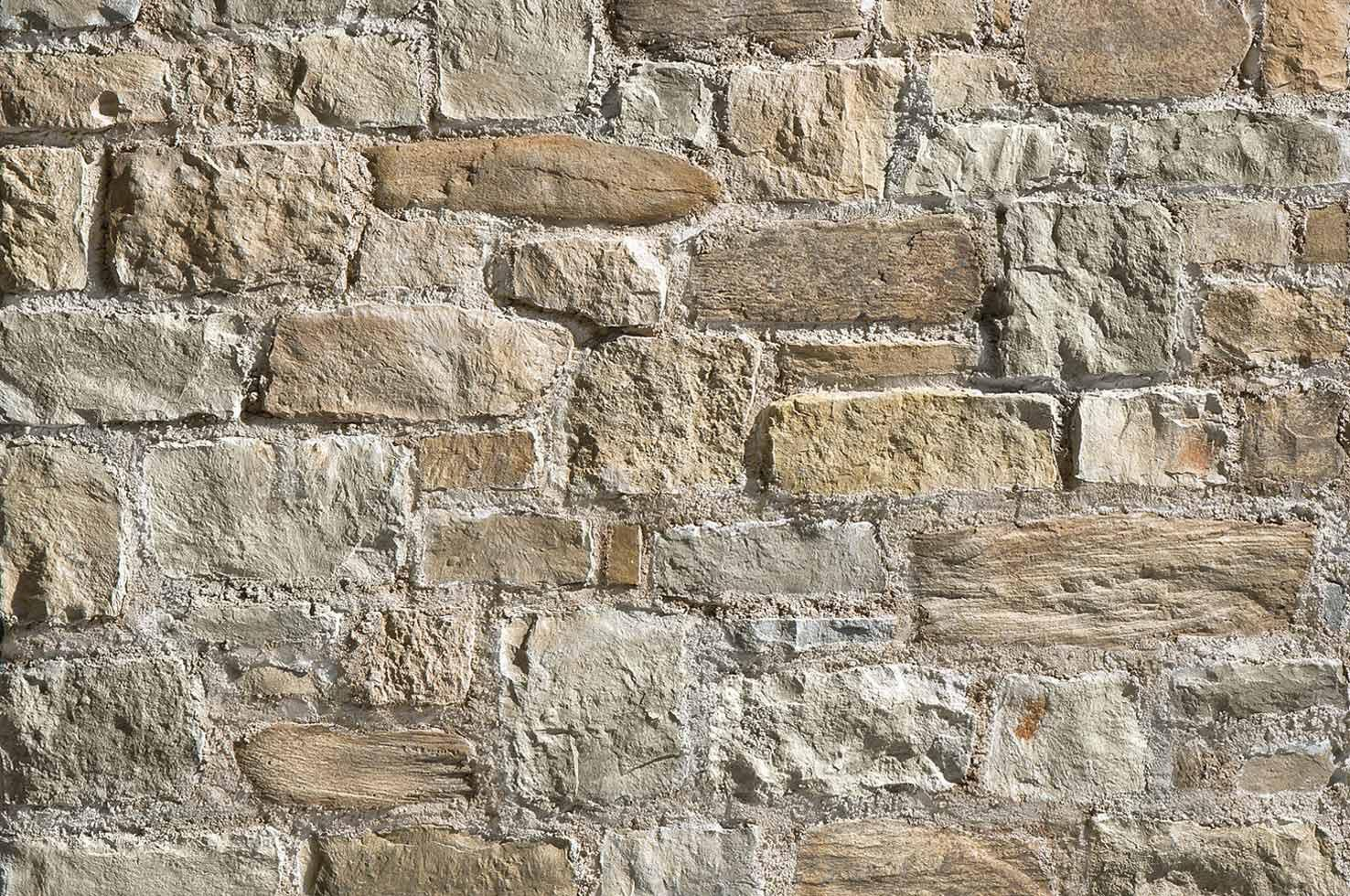 Indoor Stone Wall stone wall cladding / outdoor / indoor / 3d - square : alberese