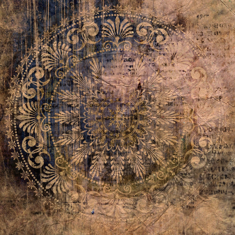 Traditional Wallpaper Vinyl Arabesque Pattern Printed Hd