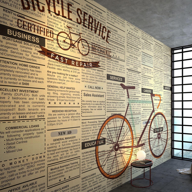 Contemporary Wallpaper Nonwoven Fabric Vinyl Art Print