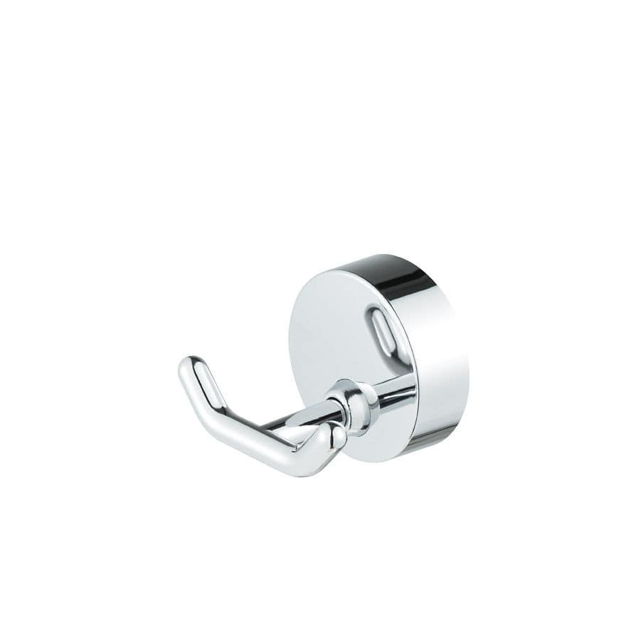Contemporary coat hook / chrome-plated brass / double / bathroom ...