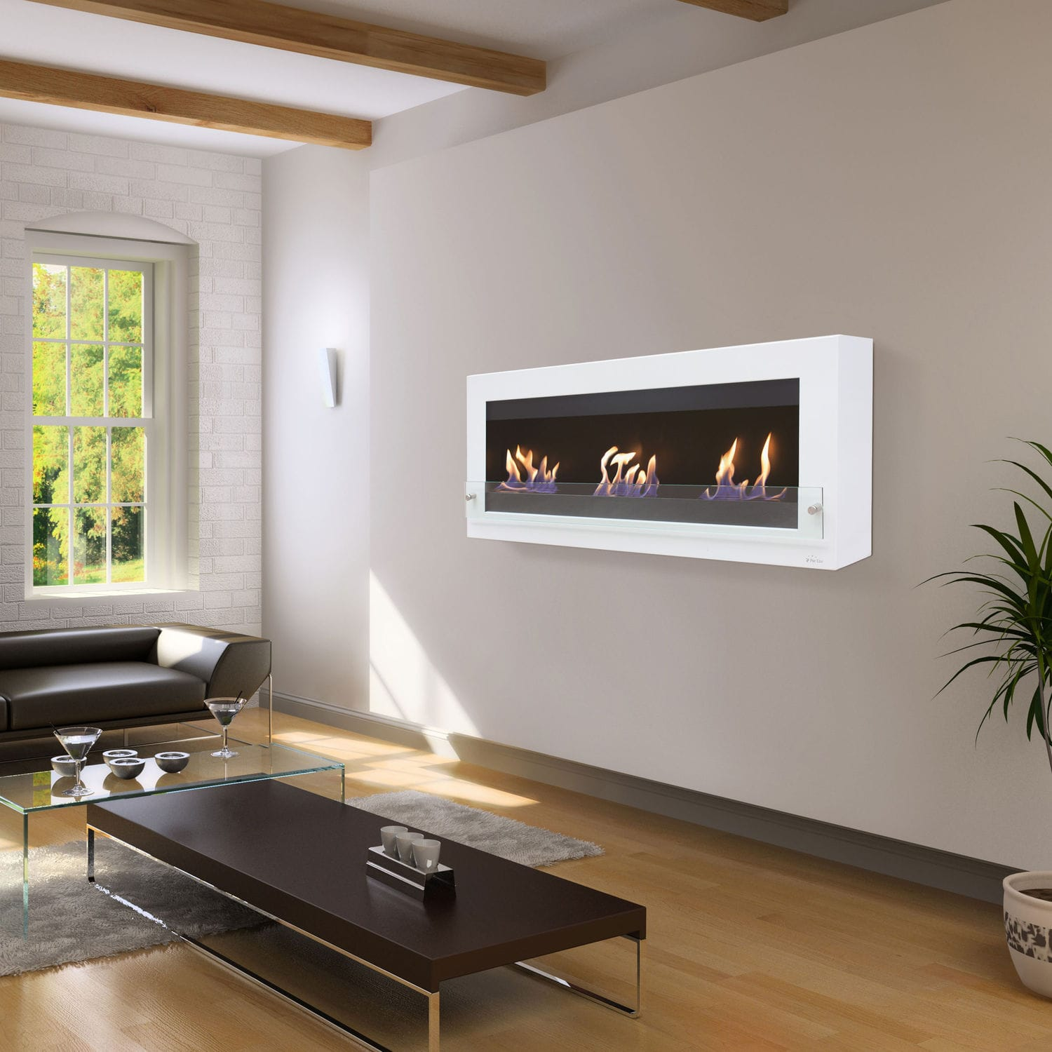 ethanol wall bio recessed in pro p ventless inch warren fireplace built mounted