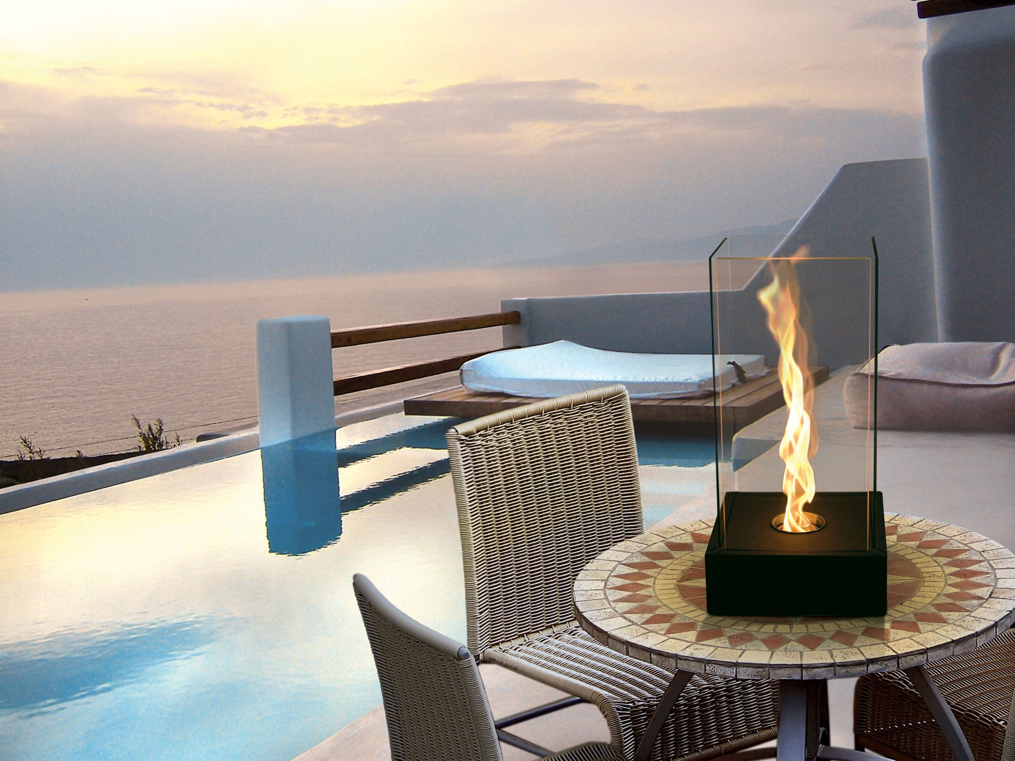bioethanol fireplace contemporary open hearth free standing