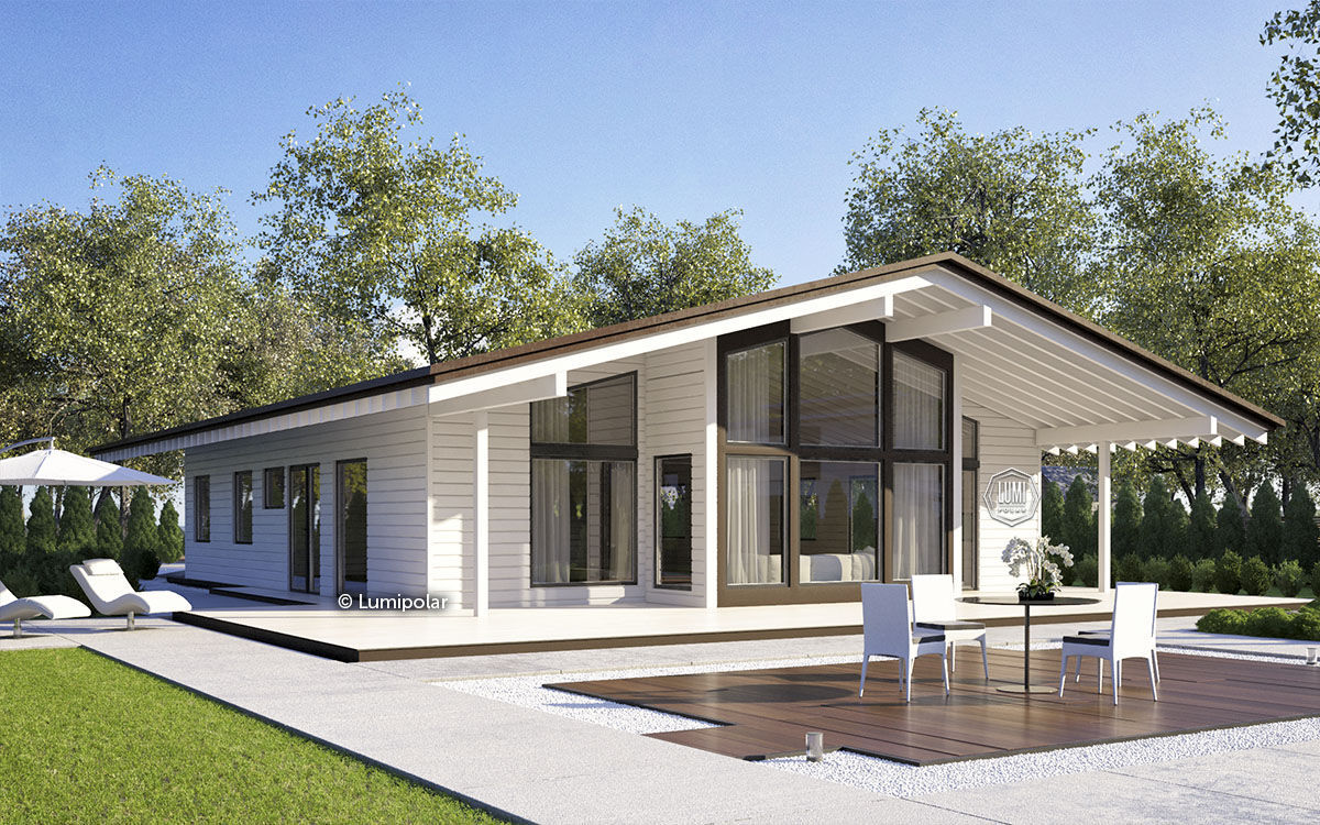 Prefab House / Contemporary / Glue Laminated Wood / Energy Efficient KARNET  211 Lumi ...